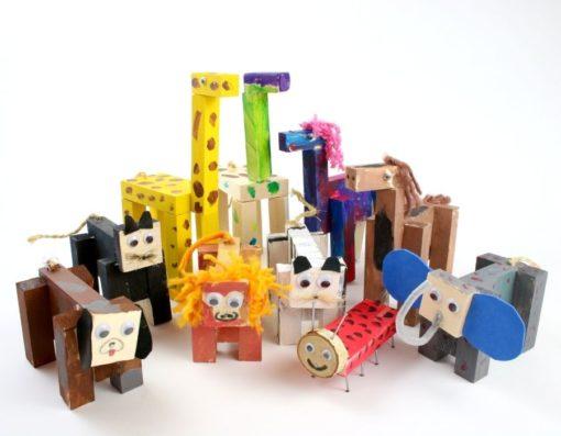 Holztiere aus der Bastelkiste