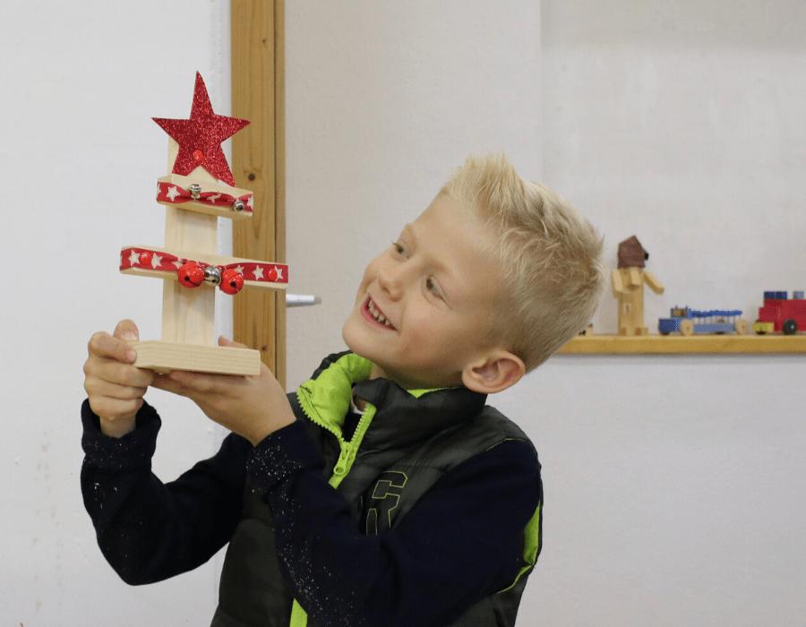 Kinder basteln Weihnachten