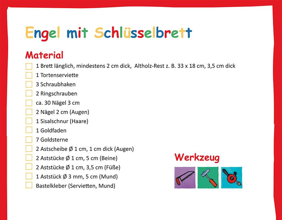 Buch Holzwerkstatt für Kindergartenkinder Materialliste