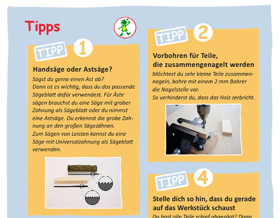 Buch Holzwerkstatt für Kindergartenkinder Tipp